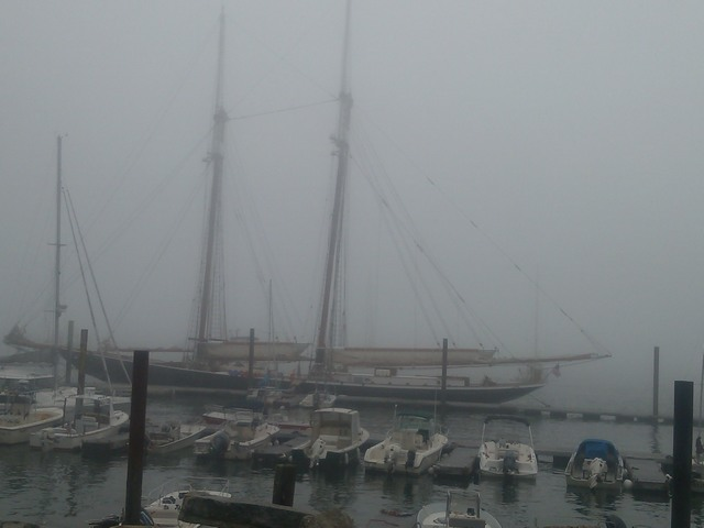 Schooner, Foggy Day, Portland, Maine