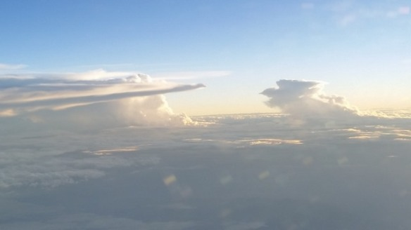 Cloud bank over Mexico