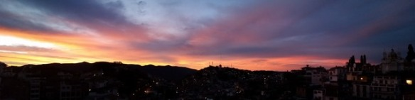 Sunrise over Taxco de Alarcon - Panorama